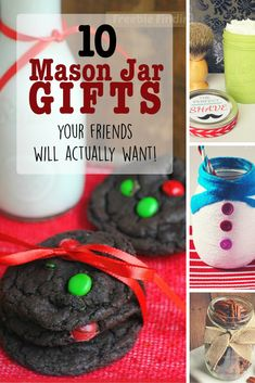 10 Mason Jar Christmas Gifts Your Friends Actually Want! ~ Seriously great ideas - who wouldn't LOOOOOVE to receive any of these darling, thoughtful gifts?!?! | Yard Sale Blog at YardSales.net