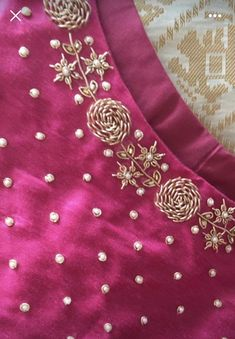 End Customization with Hand Embroidery & beautiful Zardosi Art by Expert & Experienced Artist That reflect in Blouse , Lehenga & Sarees Designer creativity that will sunshine You & your Party. Pattu Saree Blouse Designs, Blouse Designs Silk, Designs For Dresses, Bridal Blouse Designs, Blouse Neck Designs, Salwar Designs, Embroidery On Kurtis, Hand Embroidery Dress, Kurti Embroidery Design