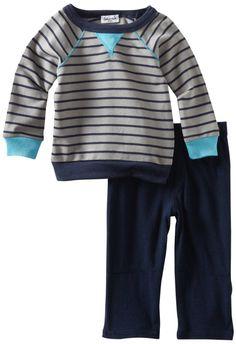 Amazon.com: Splendid Littles Baby-boys Infant Mini Breton Active Sweatshirt and Cargo Set: Clothing