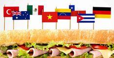 Ο γύρος του κόσμου σε 28 σάντουιτς Panini Sandwiches, Wrap Sandwiches, Kebab King, Breakfast Sandwich Recipes, Sandwich Ideas, Types Of Bread, Food Places, How To Make Beer, Gourmet