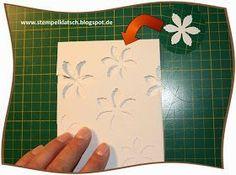 Ich habe zum ersten Mal Embossing- bzw. Prägefolder selbst hergestellt. So einfach geht's: Man benötigt ein dünnes Stück Pappe. Ich ha...