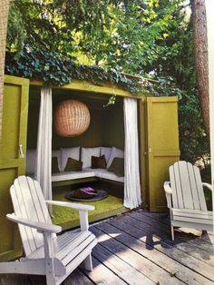 renovated shed into awesome hangout space! thanks for the pict Julia!