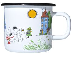 Muurla Moomin Moominvalley Colors Enamel Mug: Amazon.co.uk: Kitchen & Home