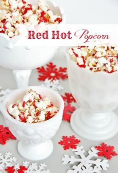 Make this easy snack for the holidays! Add red hots to popcorn for a perfect salty sweet snack. thistlewoodfarms.com