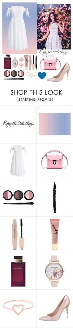 """""""#enjoy the little things"""" by yuna18 ❤ liked on Polyvore featuring Chicwish, Forever 21, Dolce&Gabbana, Olivia Burton, Love Is, Ralph & Russo, Irene Neuwirth and enjoylive"""