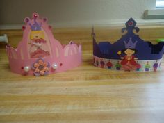 Princess crowns I made for my girls with Once Upon A Princess Cartridge and Cricut :) #imadeit #cricut