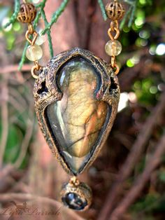 Labradorite & William Morris Gothic Arch Necklace - from Parrish Relics Brass Jewelry, Jewelry Art, Beaded Jewelry, Jewelery, Jewelry Necklaces, Jewelry Design, Jewelry Ideas, Labradorite, Fantasy Jewelry