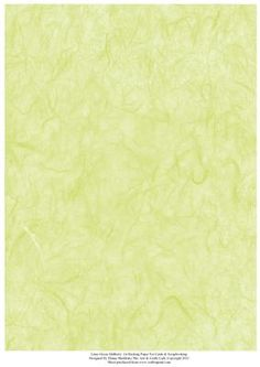 Lime Green Mulberry Effect A4 Backing Paper on Craftsuprint designed by Elaine Sheldrake - Perfect for matting and layering cards and also for scrapbooking - Now available for download!