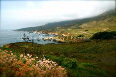 Misty Hills at  Big Sur Beach Ocean Landscape Fine by Foothillz, $25.00