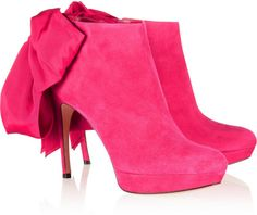 Alexander Mcqueen Bow-Embellished Suede Ankle Boots - Lyst