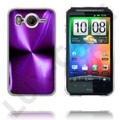 Aluminium Blade - Gjennomsiktig Kant (Lilla) HTC Desire HD Deksel Htc Desire Hd, Blade, Phone, Pink, Telephone, Mobile Phones