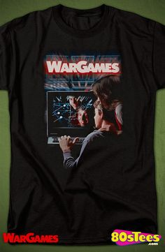 T-Shirts Sizes S-5XL New Authentic WarGames Shall We Mens T-Shirt 80s