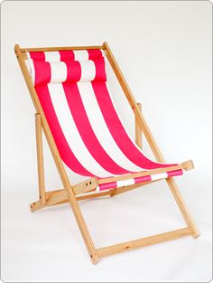 outdoor chair, hot pink and white