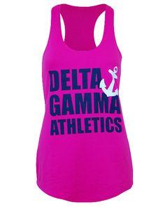Delta Gamma Athletics Tank by Adam Block Design | Custom Greek Apparel & Sorority Clothes | www.adamblockdesign.com