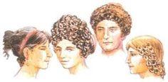 También llevaban pelucas, a menudo confeccionadas con piel de cabra, porque constituían un modo más fácil de conseguir y conservar un peinada tan complicado. En ocasiones se colocaban un velo o un ''flammeum'' sobre el cabello. Era común teñirse el cabello.