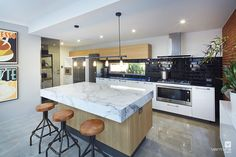 Kitchen home design with #industrial influence. The Colonnade display home by #VenturaHomes