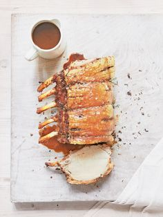 Roast Rack of Pork with Sage and Lemon Rub - The Happy Foodie