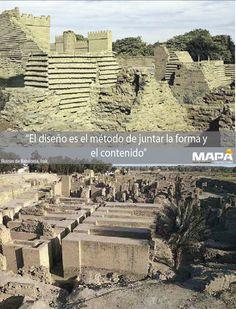 """#Frase del día: """"El diseño es el método de juntar la forma y el contenido""""... #Babilonia su nombre principal Ká (puerta de los dioses), se dice que fue fundada en el S. XXIC ac, aquí se encuentran los jardínes colgantes una de las 7 Maravillas del Mundo Antigüo, hoy #Irak"""