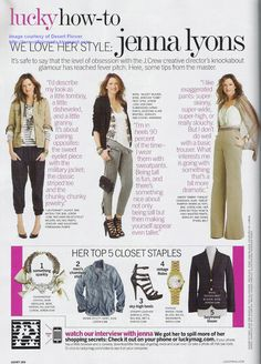 J.Crew Aficionada: J.Crew {& Jenna Lyons!} Spotted in Lucky Magazine