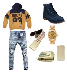 FSO✈️✈️✈️ by charles-luciano on Polyvore featuring polyvore, fashion, style, Timberland, Rolex, Burberry, Sonix and clothing