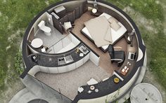 Cob House Plans, Round House Plans, Small House Plans, Silo House, Tiny House Cabin, Pent House, Minimalist Architecture, Architecture Plan, Monolithic Dome Homes