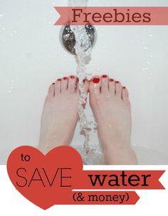 Water, water-saving freebies everywhere