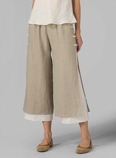 PLUS Clothing - Linen Double-Layer Pants
