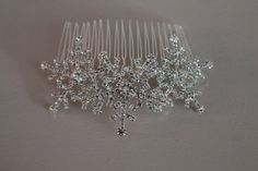 Winter snowflake hair comb Wedding hair comb   by Sparklebyelle