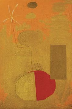 Orange Personage, Robert Motherwell, 1947   www.artexperiencenyc.com