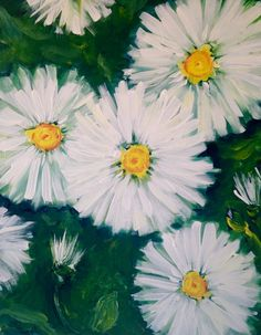 Paint Nite - White Flowers in the Garden