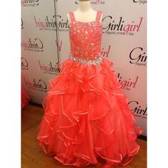 Super Cute Little Girls Pageant Dress In Coral This Color Looks Great On All