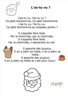 L'as tu vu ? Christmas Poems, French Christmas, Christmas Crafts, French Classroom, Baby Gym, Second Language, Learn French, Preschool, Messages