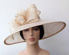 High Quality Cream Sinamay Shaped Asymmetric Wide Brim Formal Hat - size 57 cms http://www.ebay.co.uk/itm/High-Quality-Cream-Sinamay-Shaped-Asymmetric-Wide-Brim-Formal-Hat-size-57-cms-/111173004294?pt=UK_Formal_Fascinators&hash=item19e26d6c06
