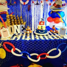 Amazing nautical birthday party! See more party ideas at CatchMyParty.com!