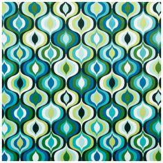 Tecido de veludo estampado - tecdec Referência: M-01646 green aqua teal turquoise