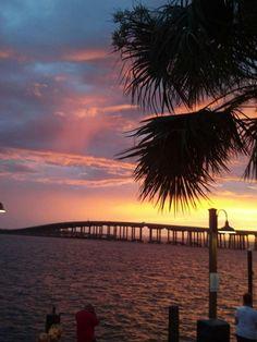 Fort Walton Beach Florida...Destin bridge Sunset. #Destin #Florida # Beach Count down is on..