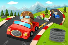 http://previews.123rf.com/images/artisticco/artisticco1404/artisticco140400058/27887643-A-vector-illustration-of-happy-kids-in-a-car-racing-Stock-Vector.jpg