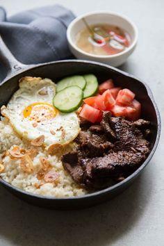 Best Filipino Recipes, Filipino Desserts, Filipino Food, Beef Tapa Recipe Filipino, Beef Recipes, Cooking Recipes, Asian Recipes, Vegetarian Recipes, Skillet Recipes