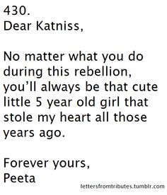 A letter to Katniss