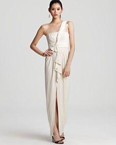 BCBGMAXAZRIA Gown - One Shoulder Gown