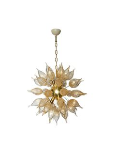 Rare and Outstanding Murano Sputnik Chandelier Attributed to Mazzega