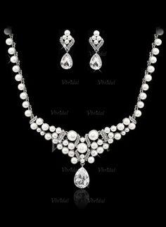 Smykker - $24.99 - Fashional Legering med Perle/Crystal Damene ' Smykker Sett (01105010956)