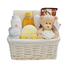 Baby Essentials Unisex Teddy Bear Hamper Gift Basket