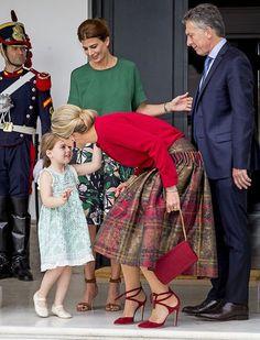 Queen Maxima, President Mauricio Macri, Julia Awada and their daughter Antonia