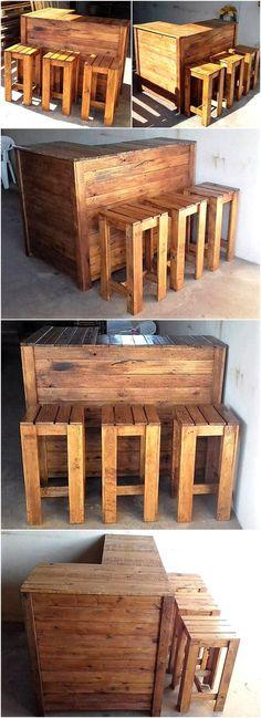 65 Ideas diy garden furniture pallet bar stools for 2019 – Stools Diy Pallet Bar Stools, Pallet Stool, Diy Bar Stools, Rustic Bar Stools, Diy Stool, Outdoor Bar Stools, Outdoor Kitchen Bars, Counter Stools, Diy Pallet Bar