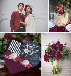 * Inspiration * Un mariage en marsala - Mlle Bride