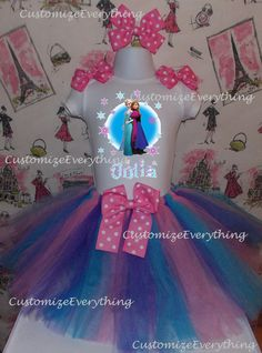 Disney Frozen Queen Elsa & Anna 4 Piece Set by CustomizeEverything, $27.99