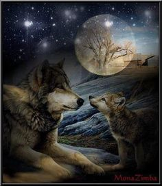 NIHAI DIY Diamond Painting Kit, Wolf and Night Moon Full Drill Diamond Painting Rhinestone Embroidery Cross Stitch Arts Craft Canvas for Bedroom Home Wall Decor (G) Wolf Images, Wolf Photos, Wolf Pictures, Beautiful Creatures, Animals Beautiful, Cute Animals, Anime Wolf, Tier Wolf, Wolf Artwork