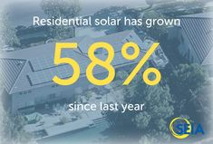 Residential solar has grown 58% since last 2013.