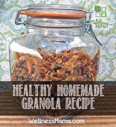 Coconut Granola recipe from Wellness Mama – omit maple syrup, or sub honey for it to make GAPS-friendly